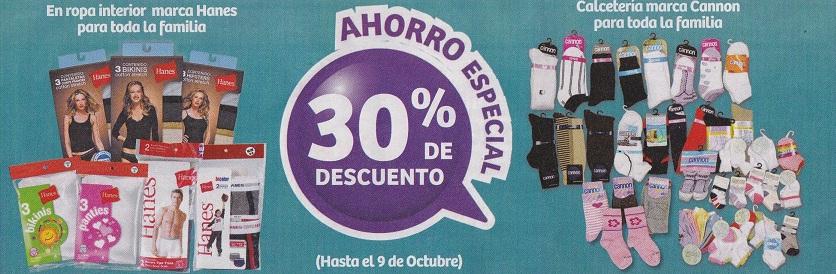 Soriana Híper: 30% de descuento en ropa interior Hanes, en calcetería Cannon, en Baby Doll y en todas las pantimedias, medias y tobimedias