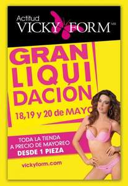 Vicky Form: liquidación este fin de semana