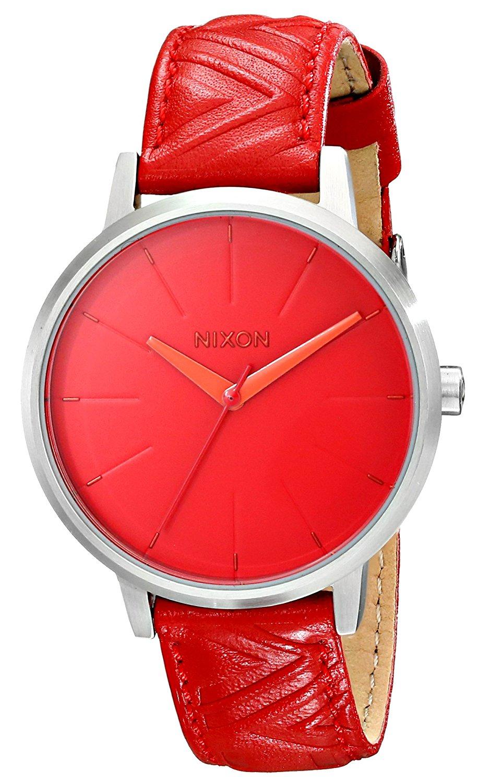 Amazon: Reloj Nixon de piel y acero inoxidable