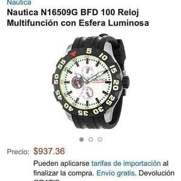 Amazon EUA: Reloj Nautica N16509G a $937