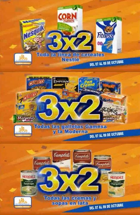 Chedraui: 3 x 2 en cereales Nestlé, galletas Gamesa y la Moderna y todas las cremas y sopas de lata