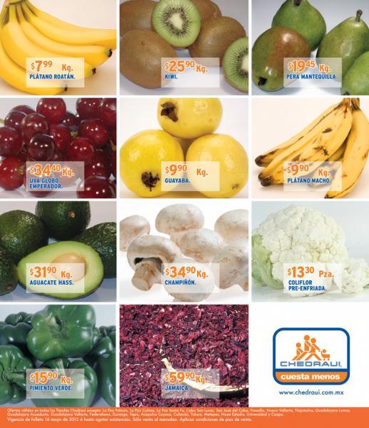 Miércoles de frutas y verduras Chedraui mayo 16: zanahoria $3.80, limón $4.90 y más