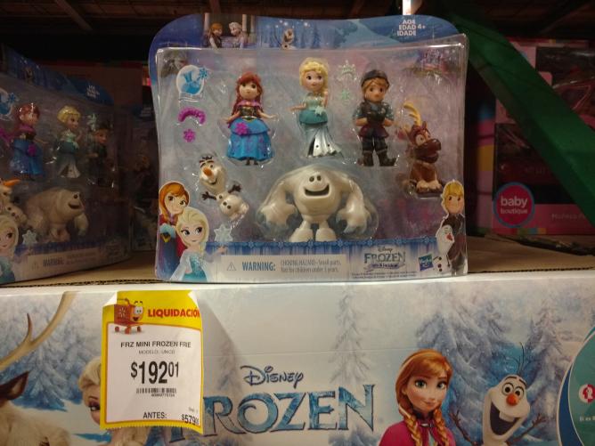 Walmart Misteros: set de figuras mini frozen a $192.01