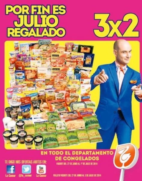 Folleto de ofertas de Julio Regalado en La Comer del 27 de junio al 3 de julio