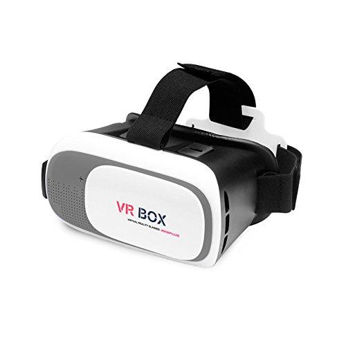 Amazon: Lentes de Realidad Virtual 3D VR Box 3.0 Originales para iPhone, Samsung y Otros Smartphones Color Gris