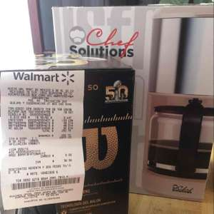 Walmart: cafetera Chef Solutions a $139.03