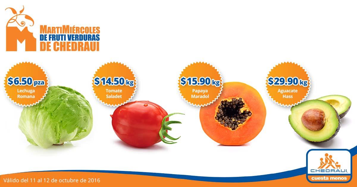 Ofertas de martimiércoles en Chedraui 11 y 12 de octubre: Tomate Saladet a $14.50 el kilo y más