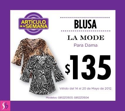 Artículo de la semana en Suburbia: blusa para dama $135