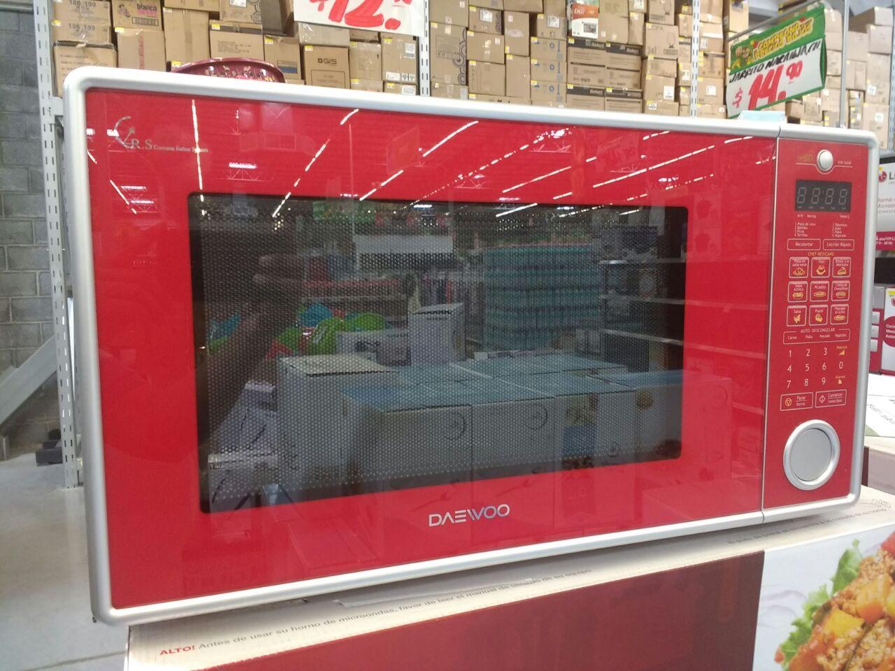 Bodega Aurrerá: Horno de microondas Daewoo Rojo a $945.01