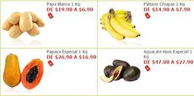 Soriana Híper y Súper: Papa Blanca $6.90 kg; Plátano $7.90 kg; Papaya $16.90 kg; Aguacate $27.90 kg; y más...