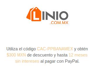 Linio: cupón de $300 de descuento con PayPal