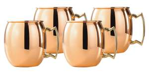 Amazon: Old Dutch OS428 16 ounces Solid Copper Moscow Mule Mug, Set of 4