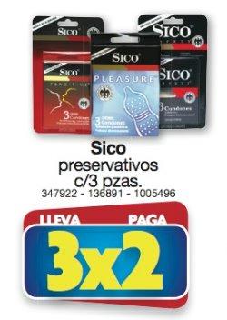 Farmacias Benavides: 3x2 en preservativos Sico