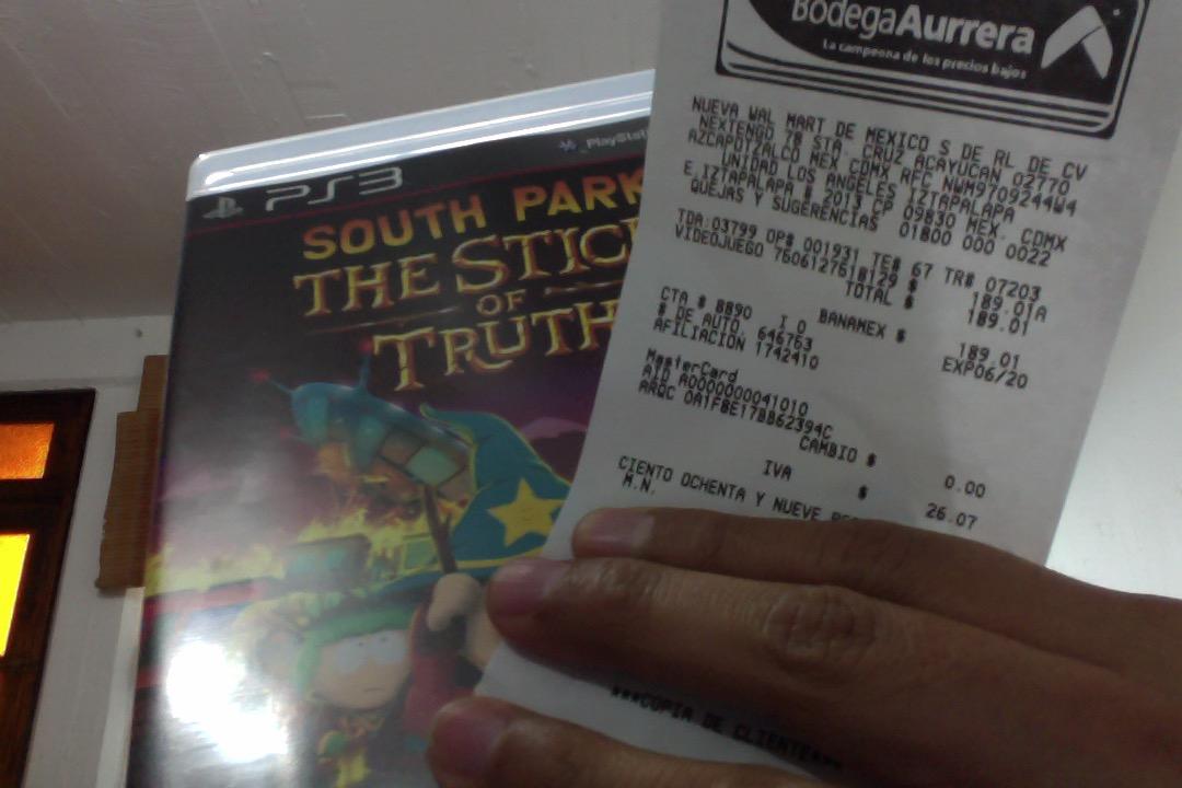 Bodega Aurrerá: South Park The stick of truth para PS3 en $189 (ambas ediciones)