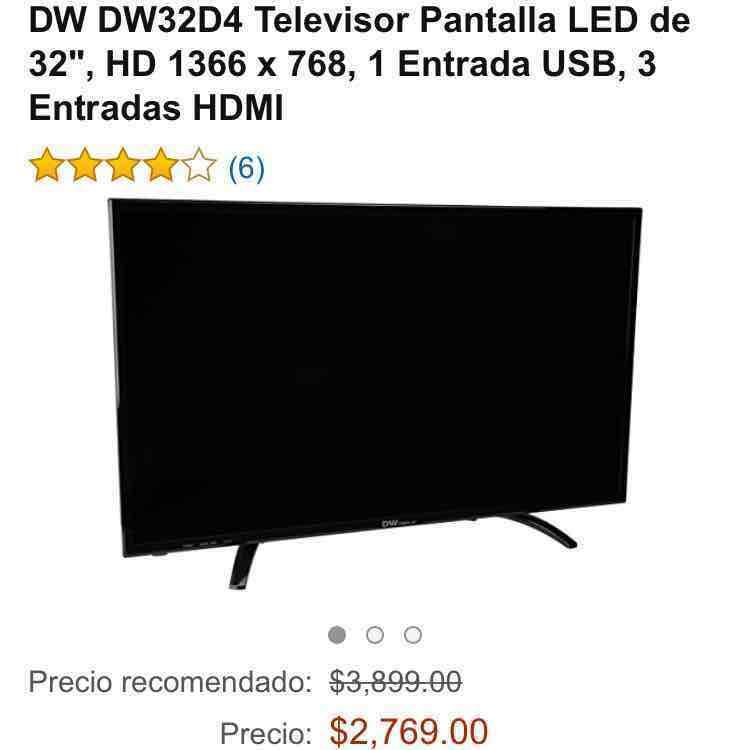 """Amazon: Pantalla 32"""" Marca: DW + envío gratis"""