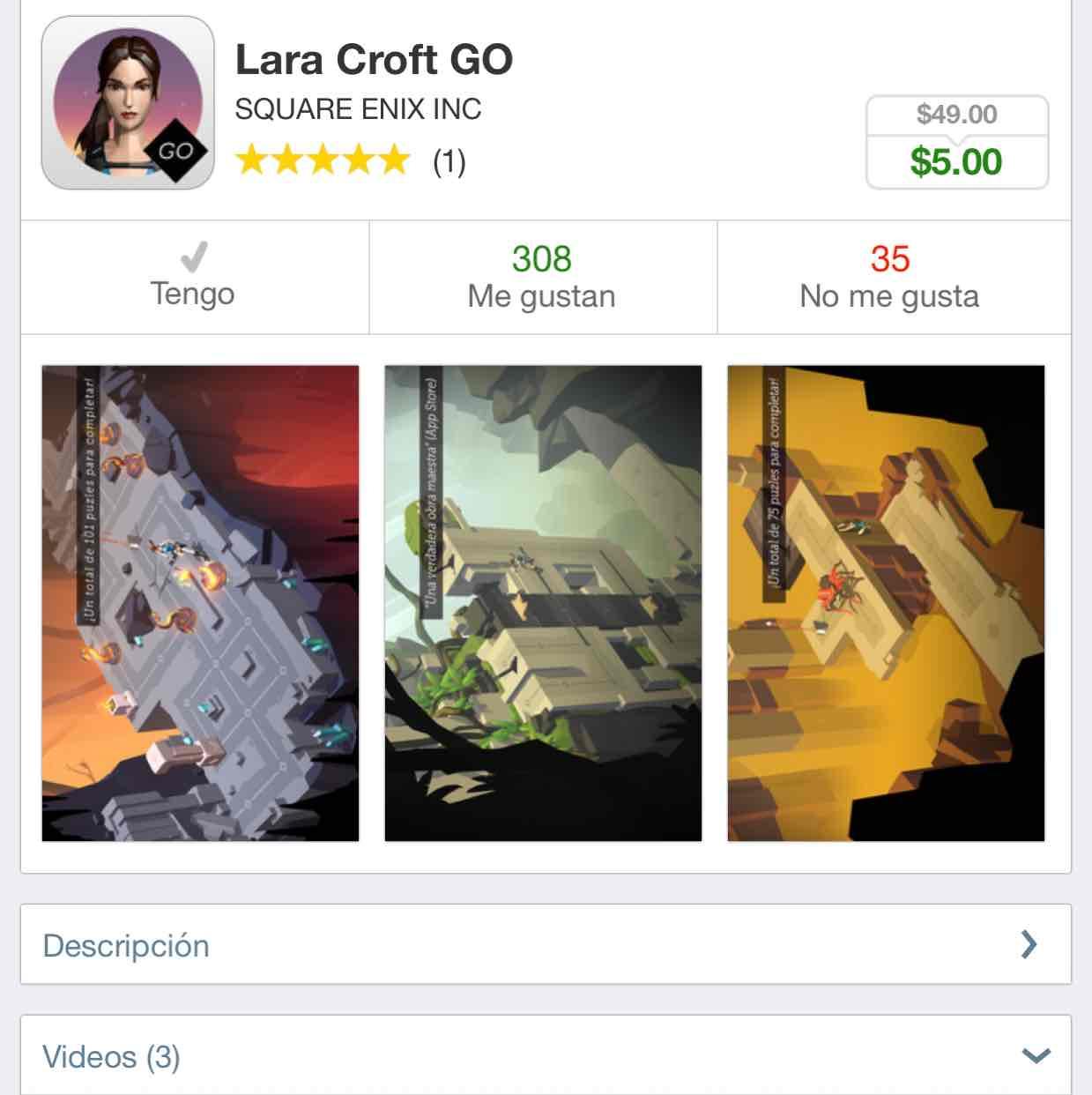 App Store: Lara Croft Go y Hitman Go iOS