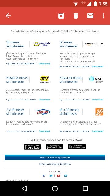 CitiBanamex: MSI en varias tiendas