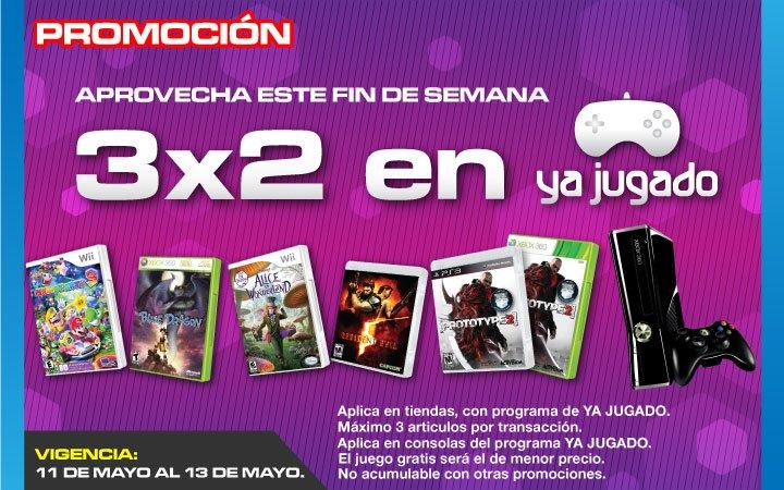 Gamers: 3x2 en juegos y consolas seminuevos