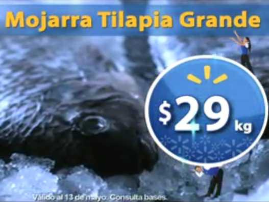 Fin de semana de frescura en Walmart mayo 11: mojarra tilapia $29 y más