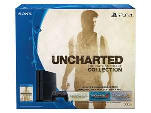 Amazon y Liverpool: Consola Playstation 4 Uncharted Collection 500Gb