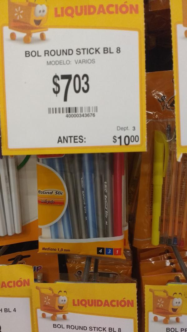 Walmart Urban Village Patria Guadalajara: Varios artículos Bic en oferta