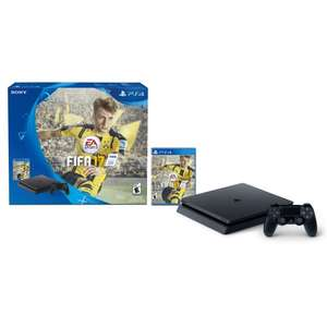 Amazon MX: PlayStation 4 Slim, 500GB + Juego FIFA 2017 - Standard Edition pagando con BANORTE