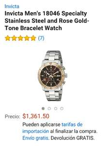 AMAZON: Reloj invicta con descuendo del 40%