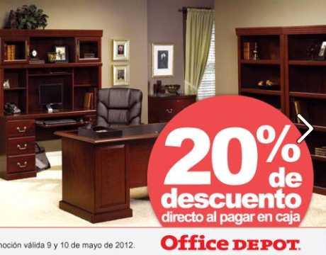 Office Depot: 20% de descuento todos los muebles