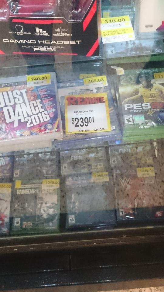 Bodega Aurrerá: Infamous para PS4 a $239.01