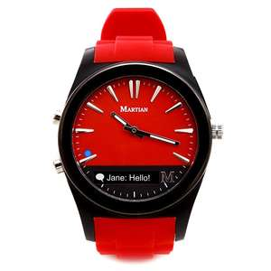 Amazon: Reloj Martian Notifier color rojo a solo $485