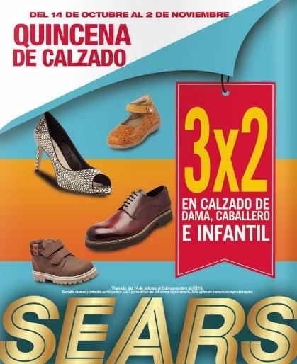 Sears: Quincena de Calzado 3 x 2 en calzado de dama, caballero e infantil