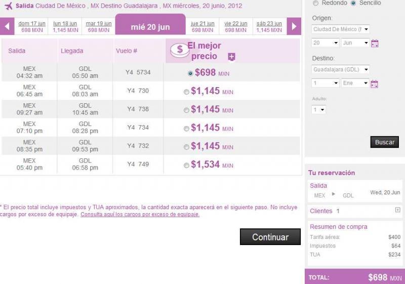 Volaris: oferta en vuelos del DF a Guadalajara