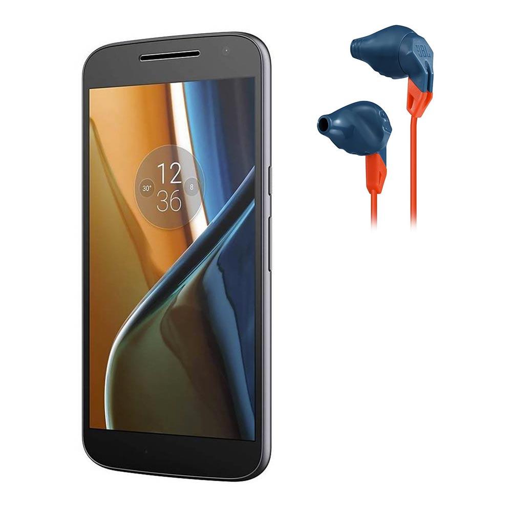 Walmart: Smartphone Motorola Moto G4 Negro Desbloqueado más Audífonos Deportivos In-Ear Azul con Naranja