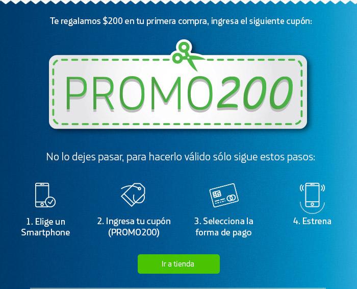 Movistar en línea: Cupón de $200 en compra mínima de $500
