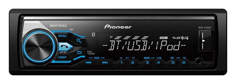 Amazon: Pioneer MVH-X385BT Autoestéreo con sintonizador RDS, Bluetooth, USB y Aux-in, Soporta, iPod / iPhone Control directo y Android