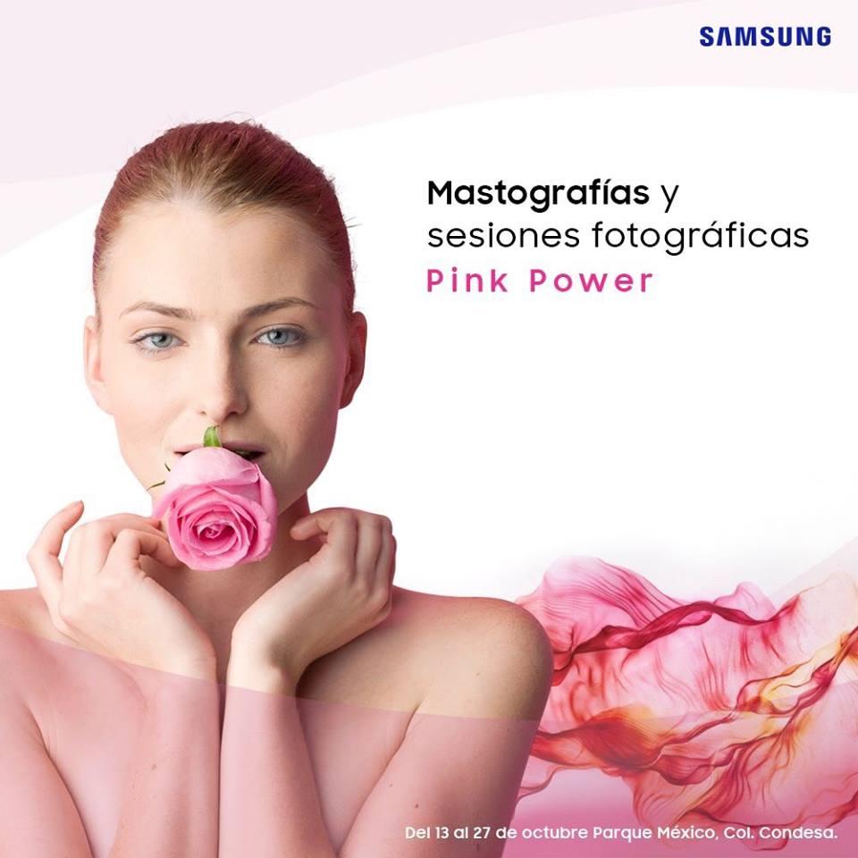Samsung México: Mastografías y sesiones fotográficas gratis en el Parque México CDMX