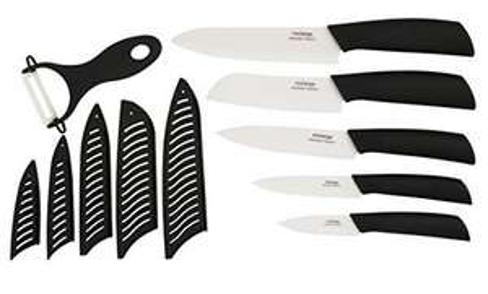 Amazon MX: Kit de Cuchillos de ceramica color negro 11 piezas incluye pela papas