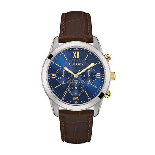 Amazon: Bulova 98A151 Reloj Análogo para Hombre, Redondo, color Azul