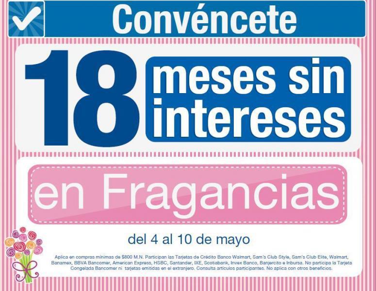 Sam´s Club: 18 meses sin intereses en perfumes