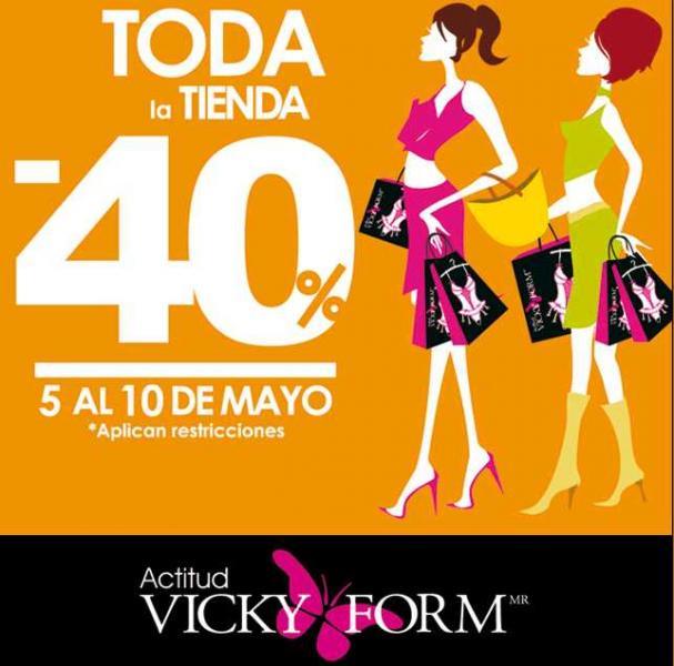 Vicky Form: 40% de descuento en toda la tienda