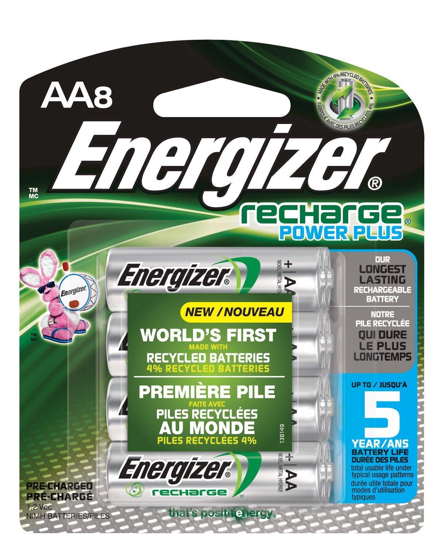 Amazon: 8 Baterías AA Energizer Recargables 2300 mAh