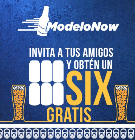 Modelo Now: Six de Cerveza gratis por invitar a amigos