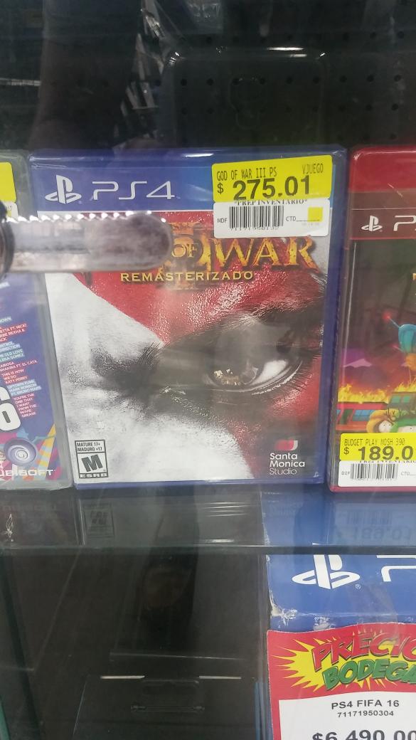 Bodega Aurrerá: God of War para PS4 a $275.01; Lumia 635 a $995.01