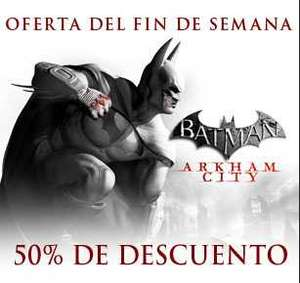 Steam: Batman Arkham City 15 dólares, Arkham Asylum $6.80 y más