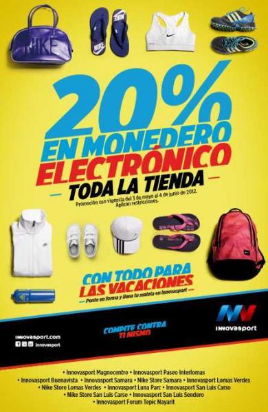 Innova Sport: 20% en monedero electrónico en tiendas participantes