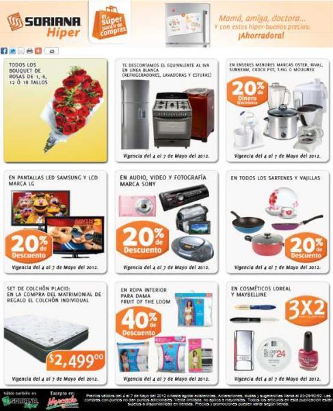 Soriana: bonificación de IVA en línea blanca, 20% de descuento en marca Sony y más