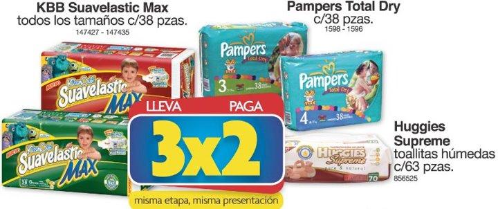 Farmacias Benavides: 3x2 en pañales Pampers, KleenBebé y más