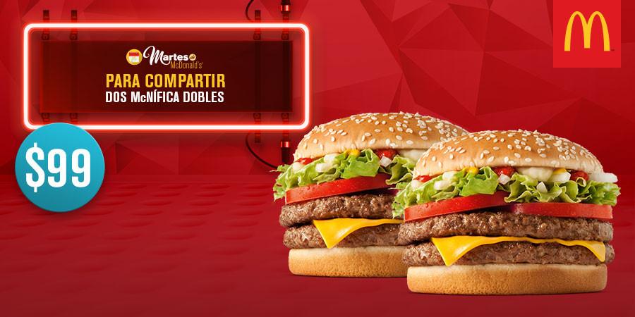 Martes de McDonald's: 2 McNífica doble por $99, 2 McFlurry por $39 y más