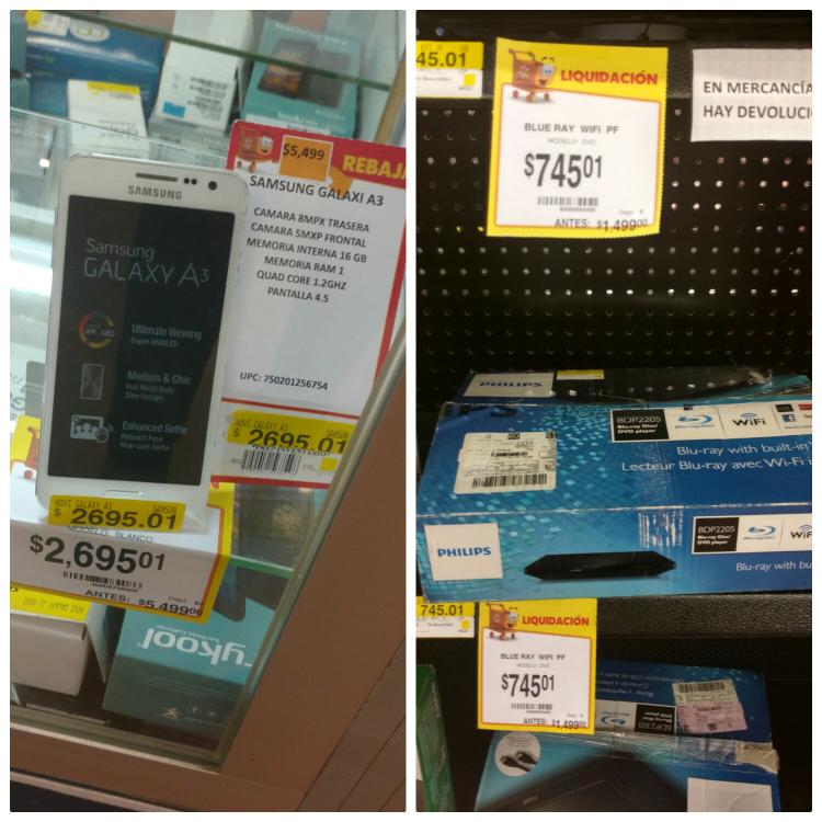 Walmart Tuxtla: Blu-ray Philips $745.01 y Galaxy A3 $2695.01