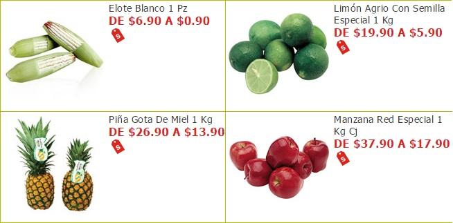 Soriana Híper y Súper: Elote $0.90 pza; Limón $5.90 kg; Piña $13.90 kg; Manzana $17.90 kg.